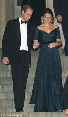 The Duke and Duchess of Cambridge attended the St. Andrews 600th Anniversary Dinner at Metropolitan Museum of Art in NYC | December 9, 2014.
