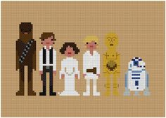another star wars cross stitch pattern ... mmm how to make it more exciting for a little boy!