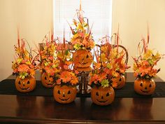 Fresh Halloween Centerpieces  by AbbiesFlowers.etsy.com