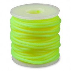 Solid, synthetic rubber cord is a tremendous stringing material. Sizes are approximate and may vary. Color may vary from dye lot to dye lot. Spool Crafts, Neoprene Rubber, Thread Spools, Synthetic Rubber, Latex Free, Neon Yellow, Cord, Ebay, Sewing