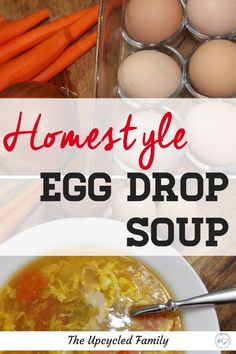 What's better than quick chines take-out egg drop soup? Why this healthy homestyle egg drop soup recipe is! Try this gluten-free easy egg drop soup recipe and you will never go back to that stuff from the Chinese buffet again. Herbal Remedies, Natural Remedies, Diarrhea Remedies, Healthy Soup Recipes, Real Food Recipes, Affordable Healthy Meals, Egg Drop Soup, How To Cook Eggs