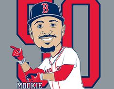 Mookie Betts, Portrait Illustration, Cartoon Characters, New Work, Adobe Illustrator, Character Design, Behance, Sport, Gallery