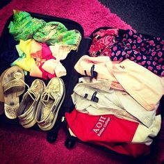 Spring Break Packing