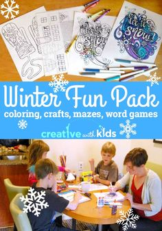 Printable Winter Activities - Free Download. So much fun!