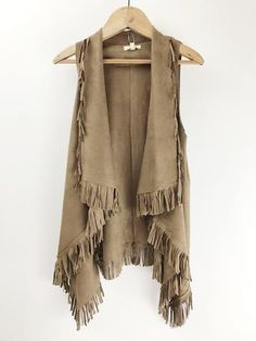 Trendy x 2 ~ Western + Fringe Modest Fashion, Boho Fashion, Autumn Fashion, Fashion Outfits, Warm Outfits, Cool Outfits, Western Wear, Western Style, Fringe Vest