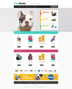 If you need a positive template for your new website, this one is a good one to have a look at. A slider here displays pretty pet images that will touch visitors' hearts. Website Layout, Website Themes, Web Layout, Pet Shop, Pet Websites, Custom Website, Site Design, Design Art, Best Wordpress Themes