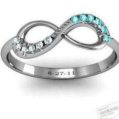 Promise Ring his and her birthstone  I'm dying I want I need I need I need!!!
