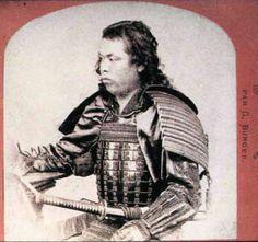 Samurai wearing armor by Burger, 1869.