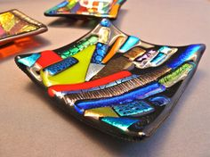 Abstract Black and MultiColored Cactus Garden by GlossArtGlass, $28.00