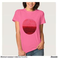 Abstract summer t-shirt