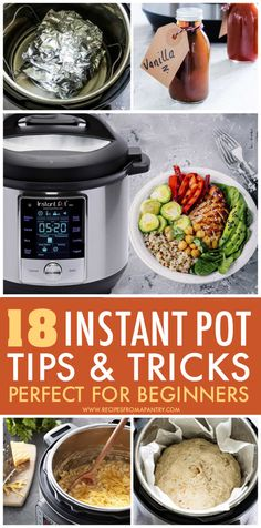 Get the best out of your Instant Pot with these 18 Instant Pot Tips and Tricks and hacks! Whether you are just a beginner or have been an Instant Pot pro for years, these handy hacks will make cooking with your Instant Pot easier, better and more efficient. Links to popular Instant Pot recipes also included. Click through to get these pressure cooker awesome tips 101 !!! #instantpot #pressurecooker #instantpottipsandtricks #pressurecooker #pressurecookertips #hacks #instantpothacks Supper Recipes, Lunch Recipes, Beef Recipes, Soup Recipes, Breakfast Recipes, Healthy Recipes, Potted Beef Recipe, Best Instant Pot Recipe, Lunch Meal Prep