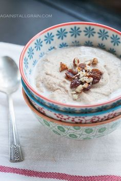 Banana Nut Porridge - Against All Grain. Made this today and it was really good. Filling and very rich:)