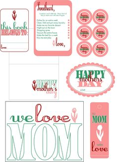 Embellish: {free printables} Happy Mothers Day