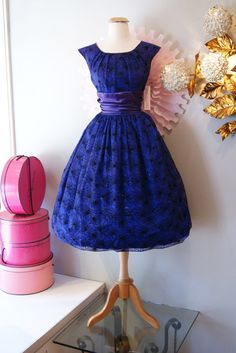 1950s Dress // Vintage 50's Royal Purple Party by xtabayvintage, $148.00