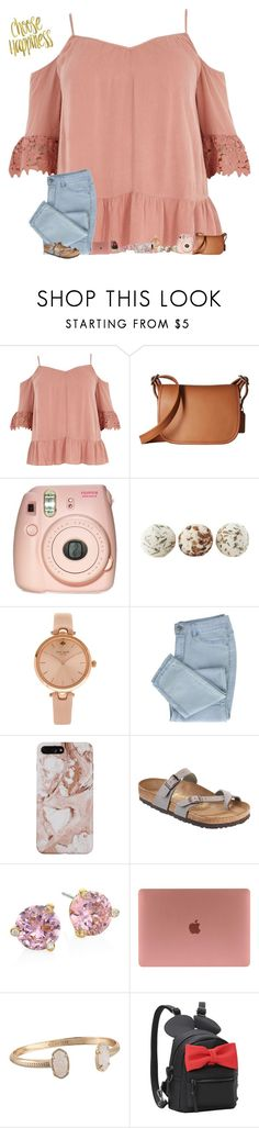 """•just got a tooth pulled•"" by mackenzielacy814 on Polyvore featuring River Island, Coach, Fujifilm, Meraki, Kate Spade, Birkenstock, Kendra Scott and mrlloves"