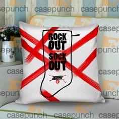 Sr8-rock Out With Your Socks Out Tour 5 Sos  Cushion Pillow Case