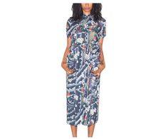 WOMEN'S HAWAIIAN LONG LINE DRESS