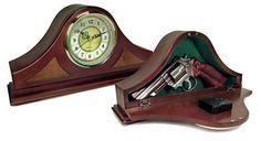 PSP Concealment Mantle Clock 14x7x3 Wood