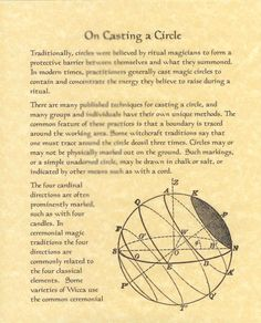Book of Shadows page about How to Cast or Casting a Circle FOR SALE • $5.95 • See Photos! Money Back Guarantee. How to cast a circle. What a wiccan circle is and how it works. Some things to keep in mind while casting circles and how to use them. Two pages. 261114598319