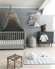 Baby Boy Nursery Room İdeas 795589090408151752 - Welche Farbe hat das Grau in der Unisex-Kindergarderobe gri …, Source by