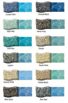 Colors I like best Lucayan Blue, Aspin Mist, Calm Sea, Pebble Beach