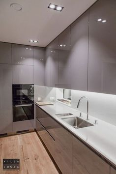 44 Fascinating Kitchen Glass Surfaces Design Ideas - Are you looking for a truly stunning finish to your top spec interior design project? Then look no further than bespoke glass surfaces. These decorati. Kitchen Decor, Interior Design Kitchen, Kitchen Cabinet Design, Home Decor Kitchen, Kitchen Room Design, Kitchen Renovation, Trendy Kitchen, Modern Kitchen Design, Contemporary Kitchen