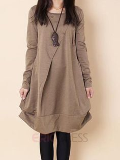 Ericdress Loose Long Sleeve Casual Dress  Casual Dresses