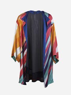 Printed Silk Satin Coat | Duarte