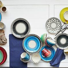 west elm collaborated with South Africa's Potter's Workshop on this colourful collection of tableware