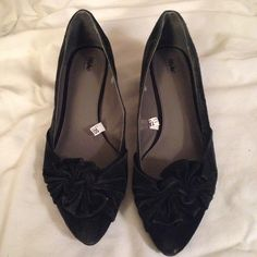 Black Bow Pointed Small Heels Very cute. Great condition. Accepting offers! Shoes Heels
