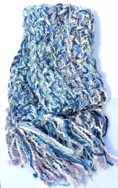 Price Reduced Light Blues 4 Strand Hand Crocheted by TSCrocheted, $19.00