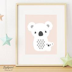 Koala Print, Nursery Animal Printable, Cute Koala Wall Art, Nursery Printable, Australian Animal, Baby Shower Gift, Digital Instant Download