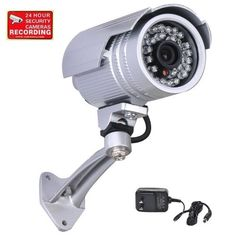 VideoSecu CCTV Surveillance Outdoor Bullet Security Camera IR Infrared Day Night Vision 420TVL Wide Angle Including Power Supply and Free Security Warning Decal WI3 by VideoSecu. Save 80 Off!. $29.99. The VideoSecu IRX811S camera is an affordable economic day night video security camera. Built-in 3.6mm lens and 30 infrared illuminators are used for night vision. Capture color pictures by day and black and white images at night. The camera has adjustable bracket can be mounted on wall or...