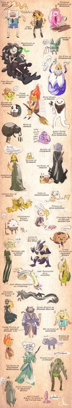 Adventure time harry potter characters