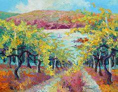 Lake Vinyard by Marion Rose Acrylic ~ 22 x 28