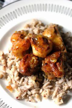 "Kitchen Grrrls.: Vegan Orange ""Chicken"" over Rice {Awesome Plant-Based, Gluten Free Meal}"