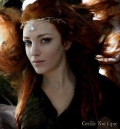 Medieval elven rainbow moonstone silver circlet tiara headpiece crown