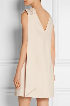 Valentino | Bow-embellished wool and silk-blend crepe mini dress | NET-A-PORTER.COM