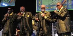 Blind Boys of Alabama in the Gospel Tent  at Jazz Fest. Photo by Black Mold.