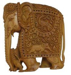 Elephant Deep Carving Flate