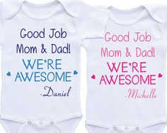 dbc762f68 Ladies We have arrived twin onesies twin outfits for boy twins Boy Girl Twin  Outfits,