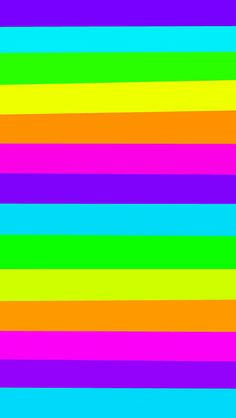 Phone Backgrounds Wallpaper Beautiful Rainbow Colorful Girl Striped Pattern