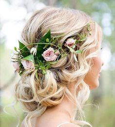 Pretty boho bridal hair with pastel flowers #weddinghair #hairstyle #bohohair #bohemianwedding #bohobride #bohemianbride #weddinginspo #braid #braids #floralcrown #bridalinspo #hairstyle #bridetobe #engaged #brides #bride #bridesmaids #bridesmaidshair