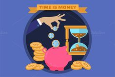 Concept for saving time and money by VectorMarket on Creative Market