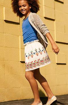 Peek Cardigan, Tank Top & Embroidered Skirt (Toddler Girls, Little Girls & Big Girls)  available at #Nordstrom