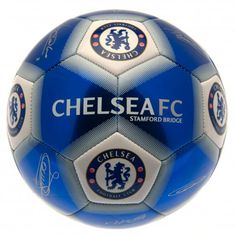 de9516c377e Fantastic metallic looking Chelsea FC football featuring the club crest and  printed player signatures. FREE. Football Gifts Online