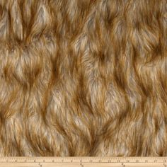 Shag Faux Fur Fox  Blonde from @fabricdotcom  Spoil yourself with this exquisite long hair faux fabric. Fur has a 2 1/2'' pile, a luxurious hand and a soft subtle sheen just like the real thing! Make gorgeous jackets, coats, wraps, fashion accessories, pillows, throws and more!$35 yard