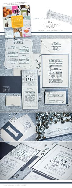 Love these invitations, menus, etc!