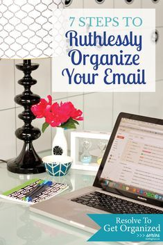 7 Steps to Ruthlessly Organize Your Email - Small Stuff Counts Gmail Hacks, Computer Help, Computer Tips, Computer Basics, Paz Mental, Your Email, Organize Your Life, Office Organization, Organization Ideas