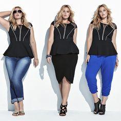 Plus Size Fashion - Torrid Peplum top